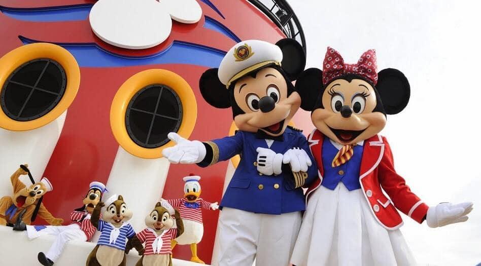 Cruzeiros da Disney saindo de Miami