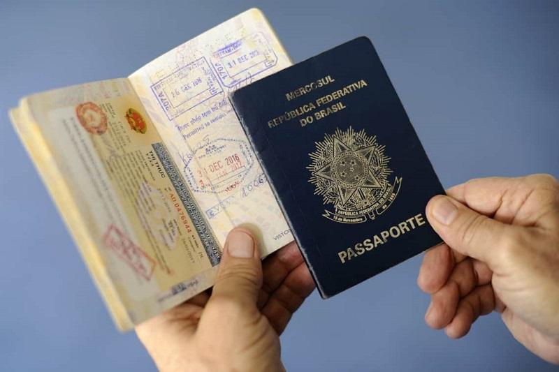 Passaporte para viagem de cruzeiro