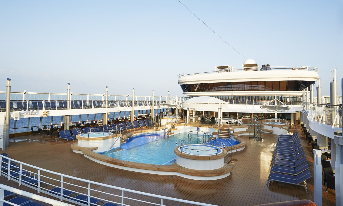 Piscina do cruzeiro Norwegian Star