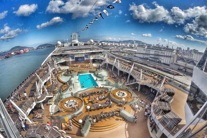 Vista aérea do cruzeiro MSC Preziosa